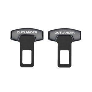 Image 3 - 1PCS Auto Gürtel Schnallen Echt Lkw Auto Sitz Safty Gürtel Alarm Löscher Stopper für Mitsubishi Outlander 2018 2019 Auto zubehör