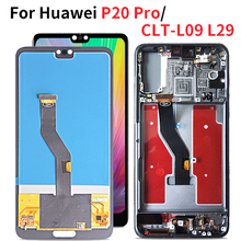 Lcd עבור Huawei P20 Pro Lcd תצוגת 1080*2240 מגע מסך Digitizer עצרת עבור Huawei P20 בתוספת lcd CLT AL01 CLT L29 CLT L09 04