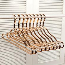 5/10Pcs Aluminium Alloy Durable Anti slip Clothes Rack Wardrobe Space Saver Metal Clothes Hangers Organizer Clothing Drying Rack