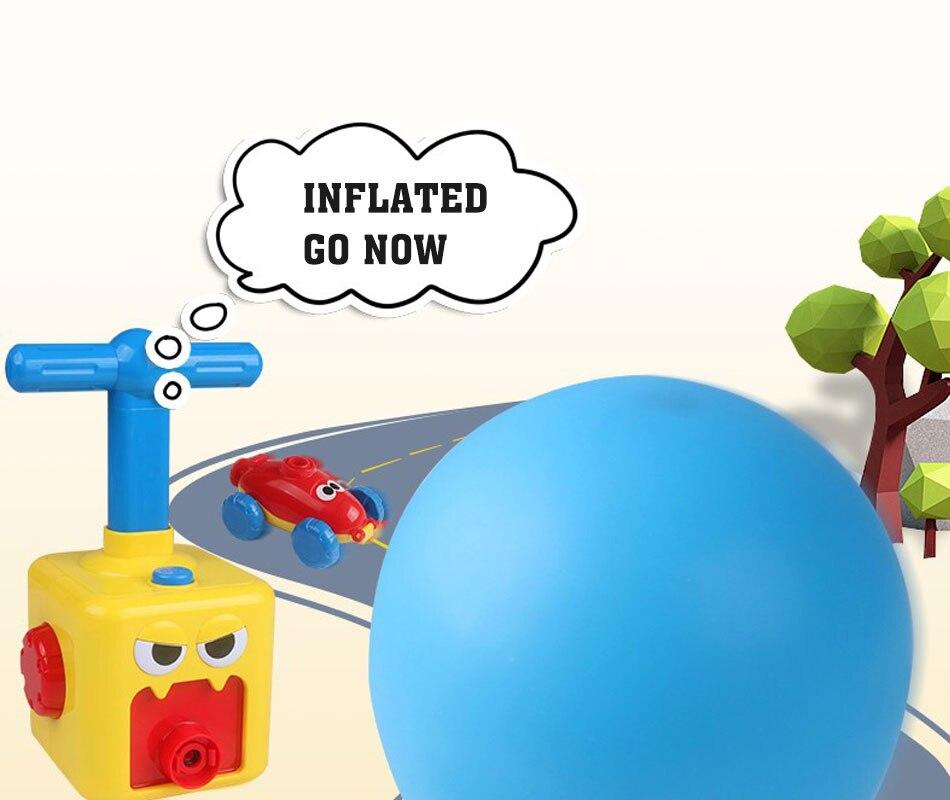 Quebra-cabeça diversão educação inércia ar balão de