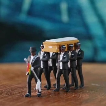 Ghana Dancing pallbearers Action Figure Toy Garage Kit Coffin Dance Decoration Professional Team Funny Doll Gift