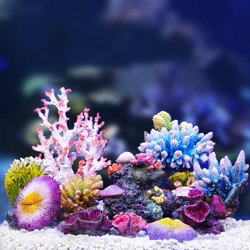 Украшение для аквариума из искусственного кораллового полимера, украшение для аквариума из кораллового рифа, украшение для аквариума с изо...