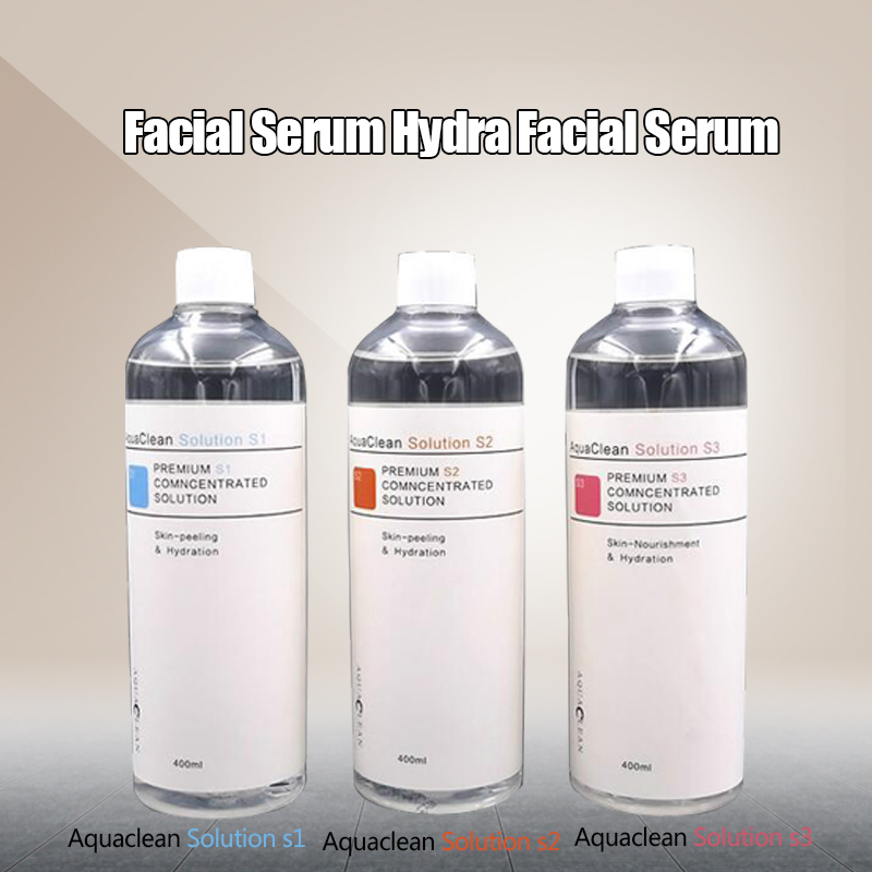 Professional Hydrafacial Machine Aqua Peeling Solution 400 Ml Per Bottle Aqua Facial Serum Hydra Facial Serum For Normal Skin