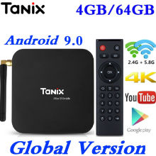 Tanix TX6 Android 9.0 TV Box Allwinner H6 Quad Core 4G RAM 3