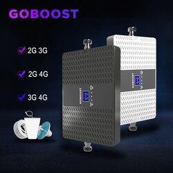 Tế Bào Khuếch Đại Repeater GSM 2G 3G 4G Di Động Tăng Cường Tín Hiệu 70dB 900 1800 2100 MHz 4G LTE 2100 MHz 3G Repeater ALC Kép