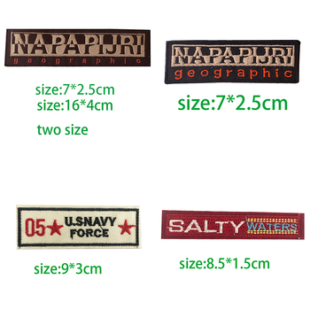1 шт. черно-коричневые прямоугольные нашивки с английским алфавитом для вышивания одежды, нашивки в полоску с надписями, наклейки для одежды, значки с буквами