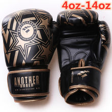 Alta calidad adultos De las mujeres/los hombres guantes De boxeo De cuero MMA Muay Thai Boxe De Luva guantes Sanda Equipments4/6/8/10/12/14oz