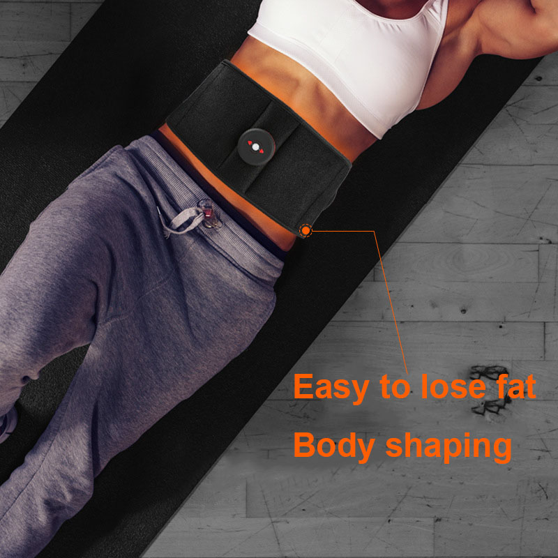 Vibration Abdominal Waist Trimmer Ab Muscle Stimulator Belt Flat And Stomach Workout Toning Massager Trainer Belt For Weight Los