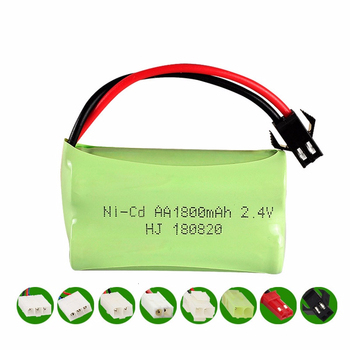 2.4v 1800mah NiCD Battery For Rc toys Car Tanks Trains Robot Boat Gun Ni-CD AA 700mah 2.4v Rechargeable Battery image