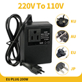 200W Spannung Konverter Transformator Schritt Unten 220V Zu 110V AC Schritt Unten Reise Spannung Transformator Konverter
