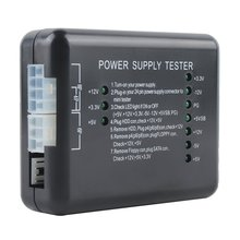 Power Supply Tester Checker LED 20/24 Pin for PSU ATX SATA HDD Tester Checker Meter Measuring for PC Compute Wholesale smart em checker electromagnetic wave detector tester for iphone android phone em checker