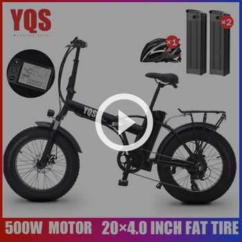 Yqs New 500w 40km H Snow Mountain Electric Bike 20inch 4 0 Fat Tire Ebike Bicicleta Eletrica Beach Electric Bicycle Yqs E Bike Store En Danshi Me