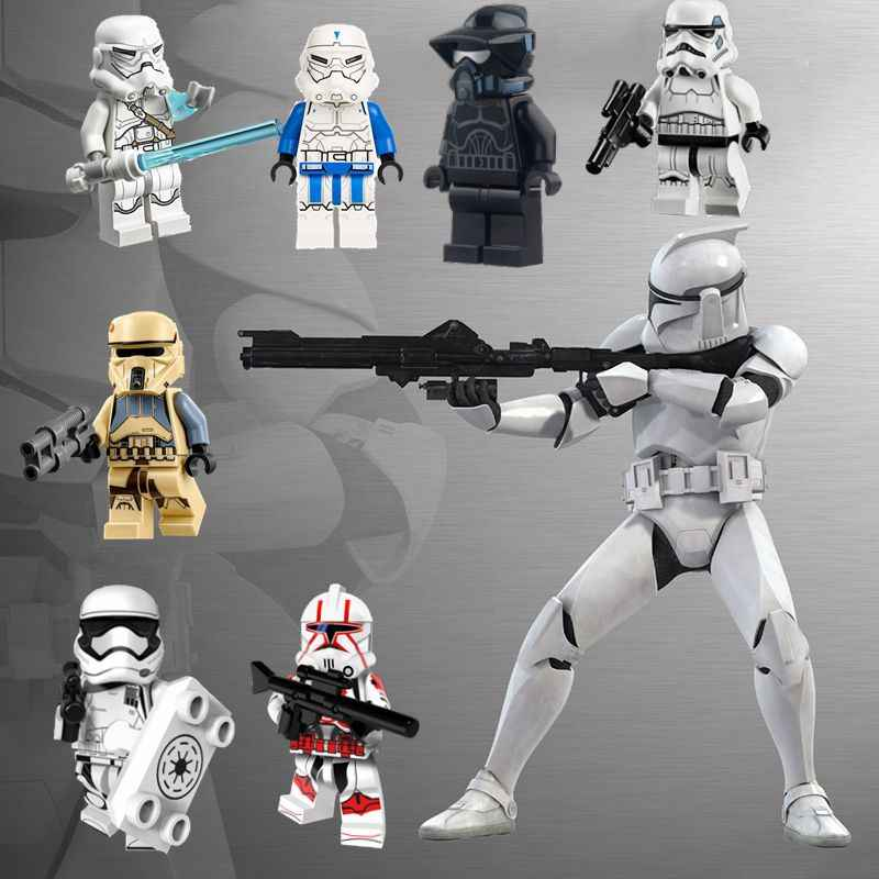 Star Wars Clone Troopers Red Neve Trooper Clone Guerriero star wars Giocattoli Per Bambini Building Blocks star Guerra