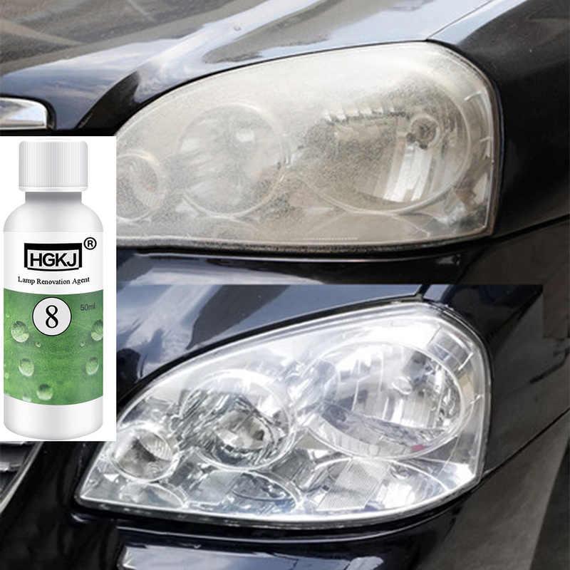 50ML Car Styling farba do malowania lakier do samochodu LED przywrócenie reflektorów środek rozjaśniający lampa do naprawy remont środek akcesoria samochodowe