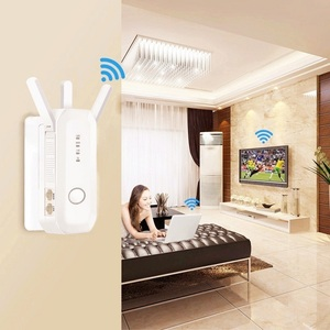 Dual Band 2.4G / 5G WiFi Repeater Wireless AC 750Mbps Router Encryption WPS Signal Extender Amplifier EU Plug(China)