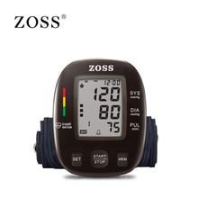 ZOSS أحدث نماذج الإنجليزية أو الروسية صوت الألمانية رقاقة LCD الذراع العلوي ضغط الدم رصد مقياس نبض القلب أداة مقياس التوتر