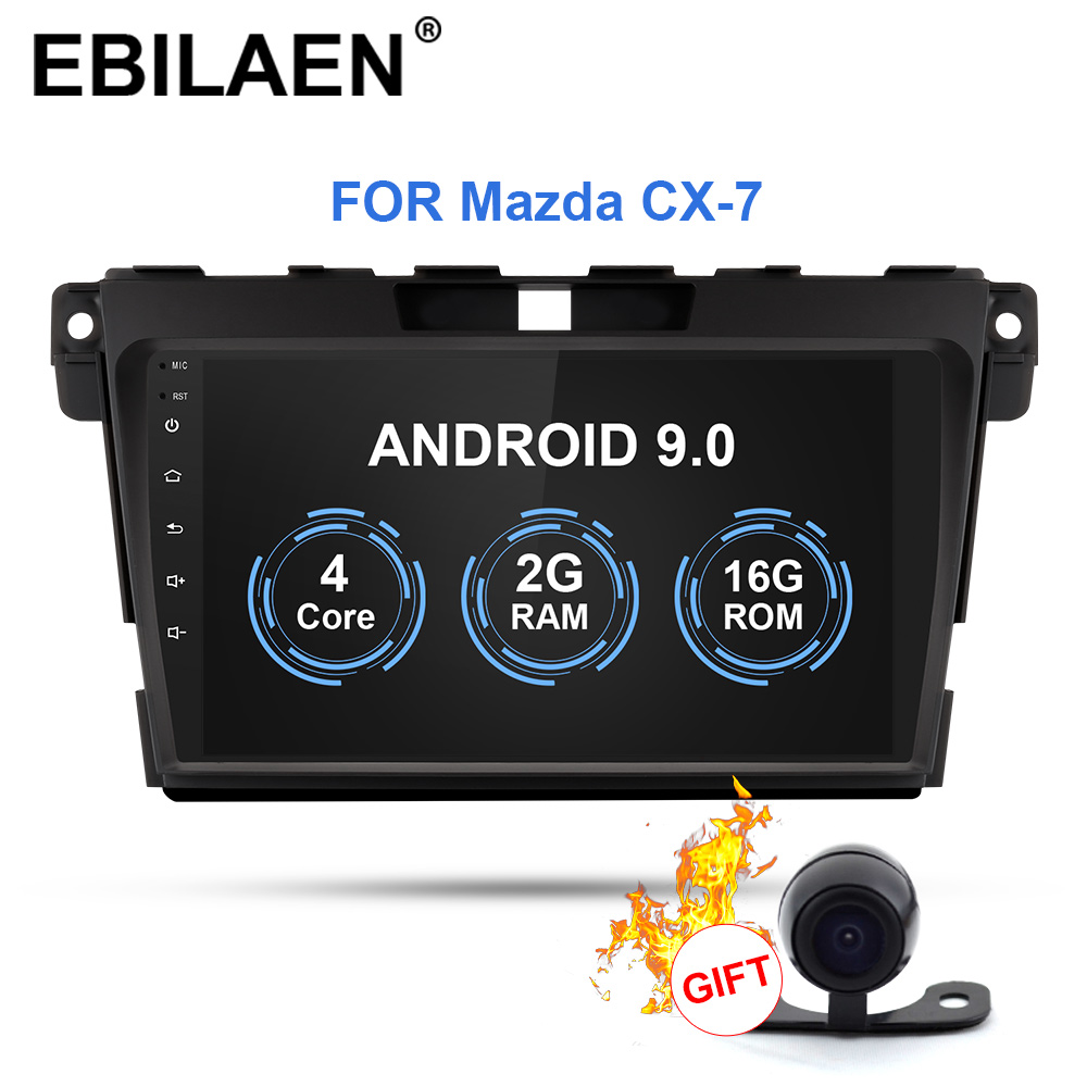 Car Radio Multimedia Player For <font><b>Mazda</b></font> CX7 <font><b>CX</b></font>-<font><b>7</b></font> <font><b>CX</b></font> <font><b>7</b></font> Autoradio <font><b>2Din</b></font> Android 9.0 GPS Navigation Tape Recorder Stereo IPS Screen image