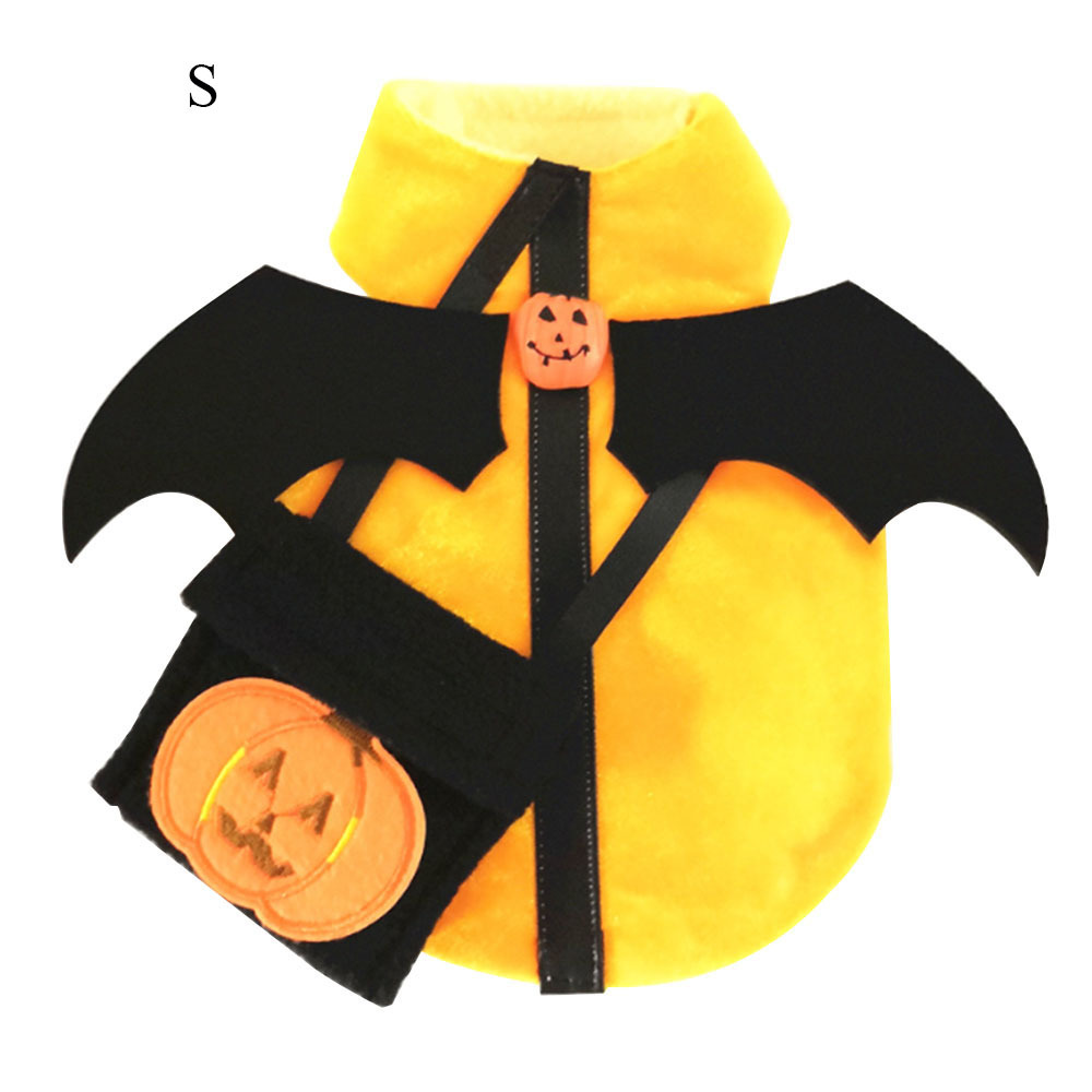 Halloween Pet Dog Shirt Clothes Pumpkin Puppy Coat with Bag for Small Dogs Halloween pet clothes in Dog Coats Jackets from Home Garden
