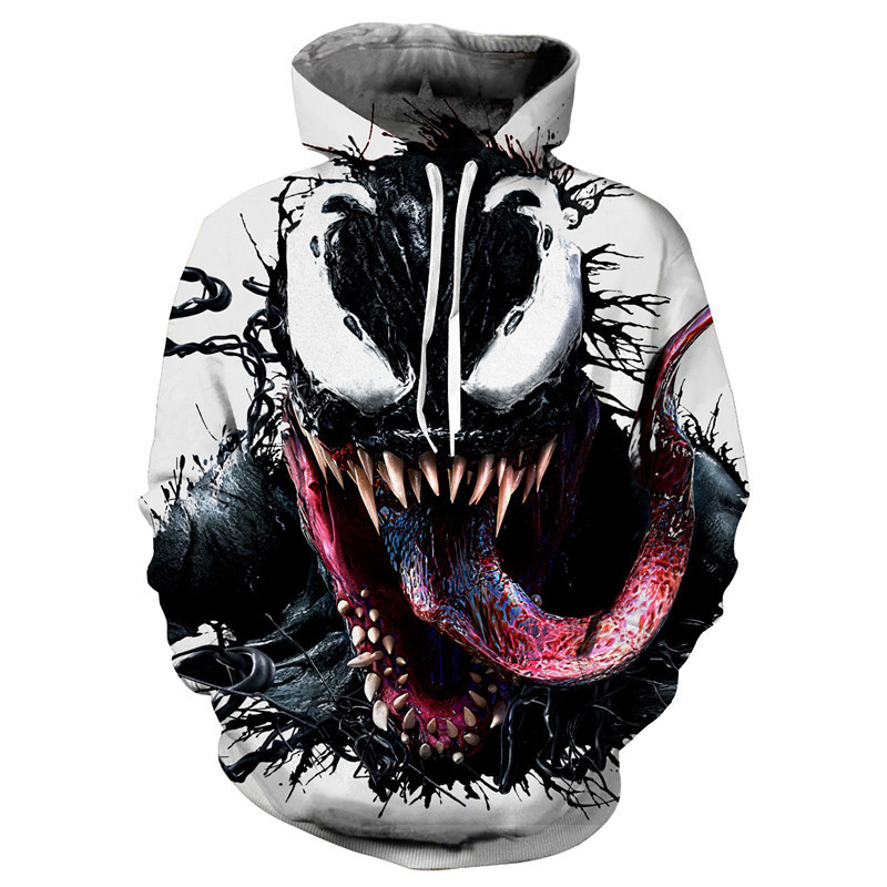 New Style Venom: Deadly Guardian 3D Printed Casual Outside Pullover Hooded Hoodie Cosplay Anime Peripheral