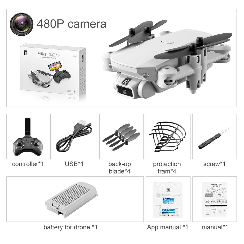 2020 New LS-MIN Mini Drone WiFi FPV 4K 1080P HD Camera Air Pressure Altitude Keep Foldable RC Quadcopter Children's Toy VS E58
