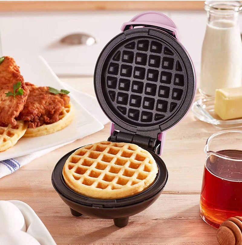 Điện Mini Bánh Quế Máy Làm Bong Bóng Bánh Trứng Lò Nướng Ăn Sáng Máy Làm Bánh Waffle Bánh Trứng Lò Nướng Chảo Eggette Máy Mini Bánh Nồi