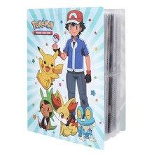 Álbum de tarjetas Pokemon para niños, colección de 240 Uds