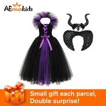 Children Clothing Maleficent Christmas-Dress Cosplay-Costume Evil-Queen Girls Kids