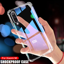 Роскошный Ударопрочный силиконовый чехол для телефона Xiaomi Mi 9 8 A3 A2 Lite, прозрачный чехол для Xiaomi Mi 9 8 SE 9T CC9 CC9E Play