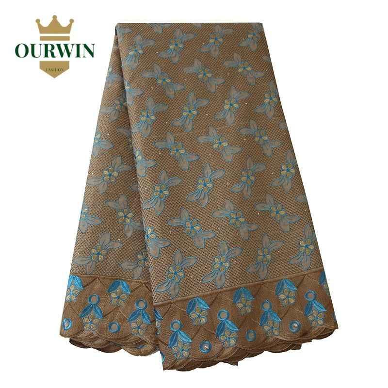 5 ヤード縫製レースナイジェリア生地 aqua スイスボイルレース生地綿 100% レース生地女性のための石 dressses