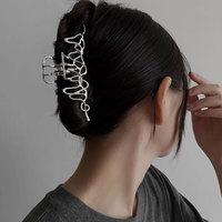 Fermagli per capelli in metallo irregolare argento elegante granchio fermaglio per capelli donna ragazze artigli per capelli accessori per capelli copricapo da donna forcine granchio