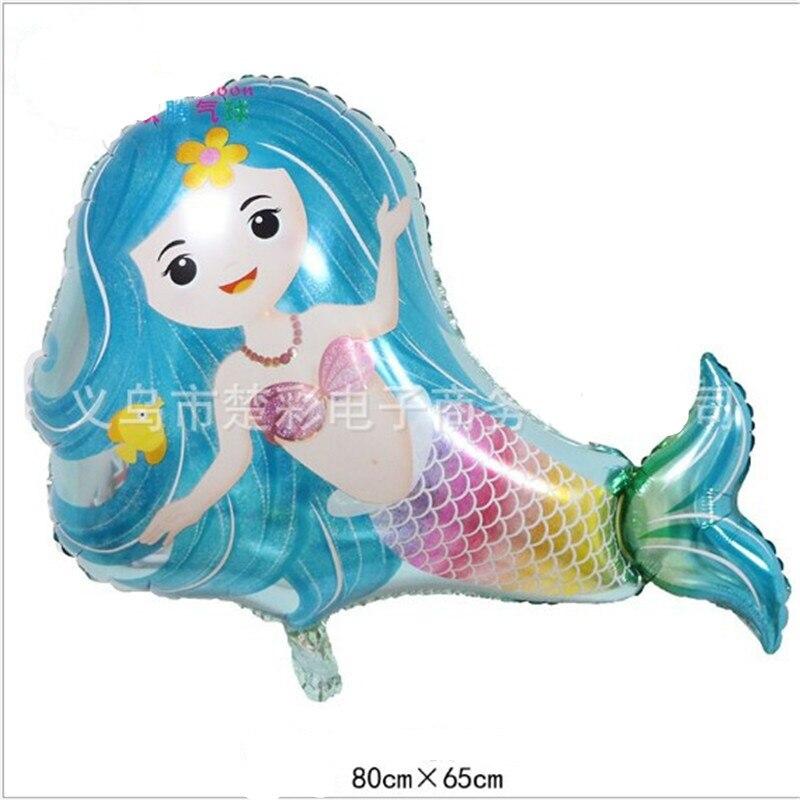 Modeling Ocean Animal Aluminum Balloons Kids Theme Decoration World Balloon Party Balls Mermaid Series