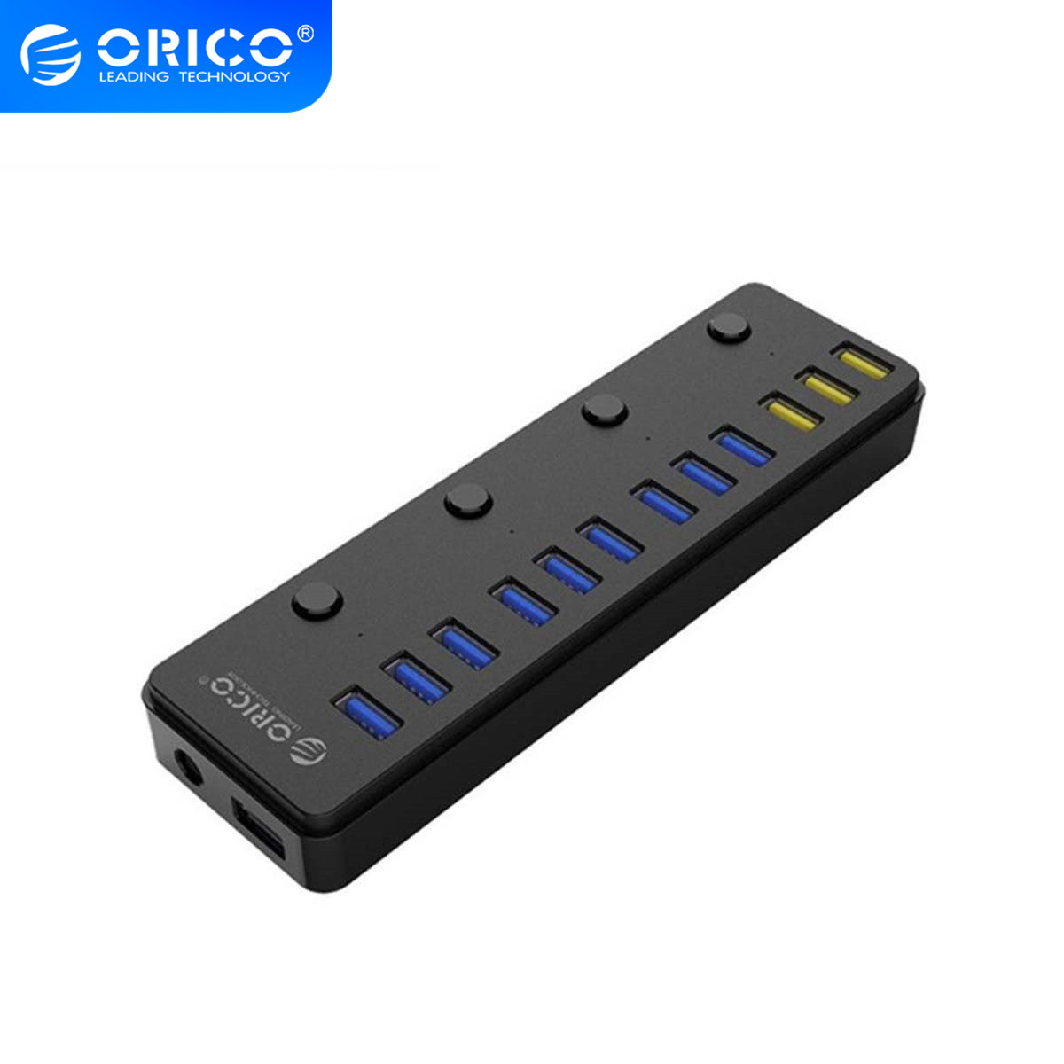 ORICO 12 Port USB 3.0 HUB With 12V 5A Power Adapter Multi USB HUB Splitter with 3 Port BC1.2 usb Charging for Laptop PC phone