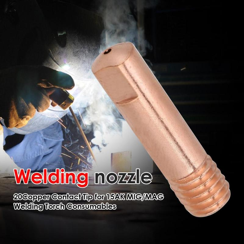 20pcs Nozzles Contact Tips Holders MIG Welder Semi-automatic Consumable Welding Tools Soldering Supplies Accessory