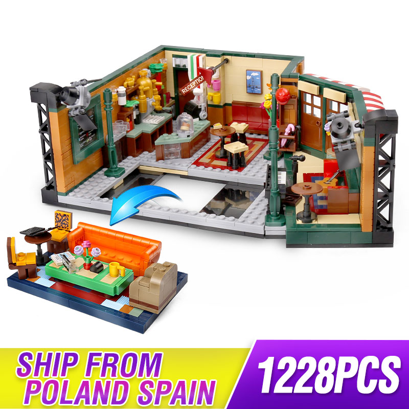 Classic TV Series American Drama Friends Central Perk Cafe Compatible Legoing Friends Model Building Block Bricks 21319 Toy Gift