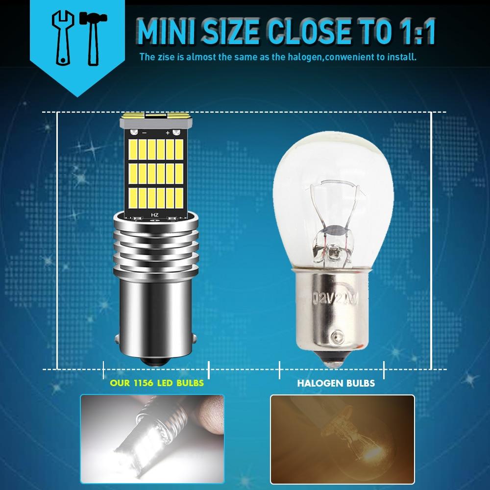 Details about  /2xCanbus No Error 1156 BA15S P21W LED Car Backup Reverse Light Bulb White AUXITO
