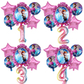 6 шт., Дисней, Холодное сердце, принцесса Эльза, гелиевые шары, 32 дюйма, Детские вечерние воздушные шары с номером, украшение для дня рождения