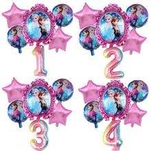 6pcs Disney Frozen Princess Elsa Helium Balloons 32inch Number Baby Shower Party Decoration Balloons Kids Birthday Air Globos