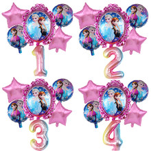 6 pièces Disney reine des neiges princesse Elsa hélium ballons 32 pouces numéro bébé douche fête décoration ballons enfants anniversaire Air Globos
