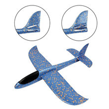 Plane Model DIY Hand Throw Flying Glider Planes Outdoor games Parent-child Trick Foam Airplane Toy Glider Baby Toys for Children(China)