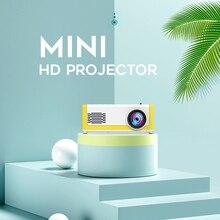 M1 Mini projektor led 1800 lumenów 1080P HD domowy odtwarzacz mediów 3.5mm Audio HDMI USB TF/SD wielofunkcyjny odtwarzacz wideo Mini Beamer