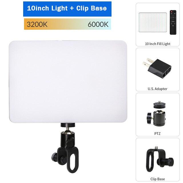Hf6acbedb7a894f1a87264b1c6462bbdfb Dimmable LED Video Light Panel EU Plug 2700k-5700k Photography Lighting For Live Stream Photo Studio Fill Lamp Three Color