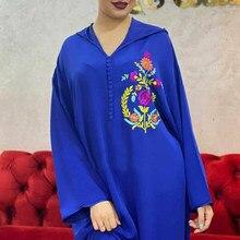 Robe longue brodée Dashiki pour femmes, Kaftan, dubaï, mode africaine, Riche, élégante, vêtements islamiques, printemps été, 2021