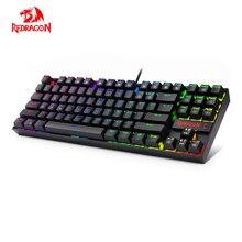 Redragon K552RGB KUMARA K552 RGB Backlighting Mechanical Gaming Keyboard 87 Keys Blue Switches Backlit Keyboard For Gamer