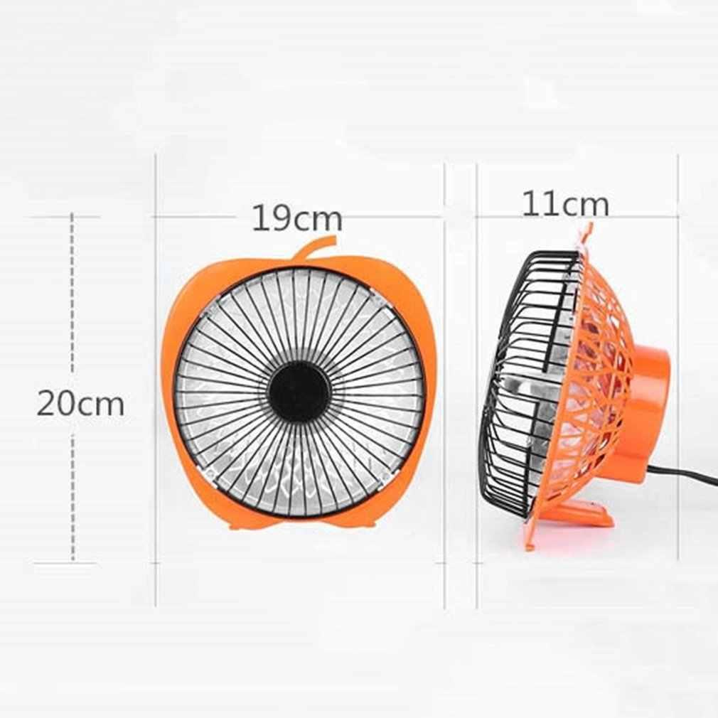Inverno mini solar criativo 6 Polegada dos desenhos animados aquecedor elétrico escritório aquecedor de mesa pequeno ventilador aquecedor laranja massagem & relaxamento