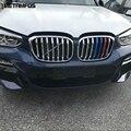 Для BMW X3 2018 2019 Хромированная передняя Центральная решетка гриль крышка формовочная отделка Декоративная полоса внешние аксессуары автомоб...