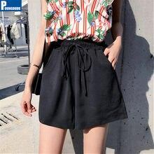 Pantaloncini da donna estivi POUNGDUDU 2021 per ragazza pantaloncini caldi taglie forti tasche femminili sottili a vita alta elastico allentato Casual