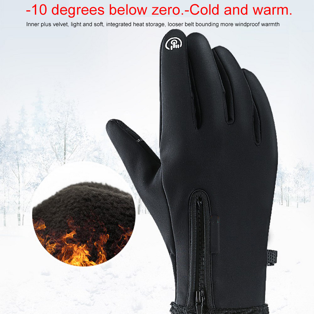 Unisex Winter Warme Reiten <font><b>Moto</b></font> Handschuhe Wasserdichte <font><b>Touch</b></font> Screen Handschuhe Outdoor Warme Alle-finger Plus Samt Guantes <font><b>Moto</b></font> luvas image