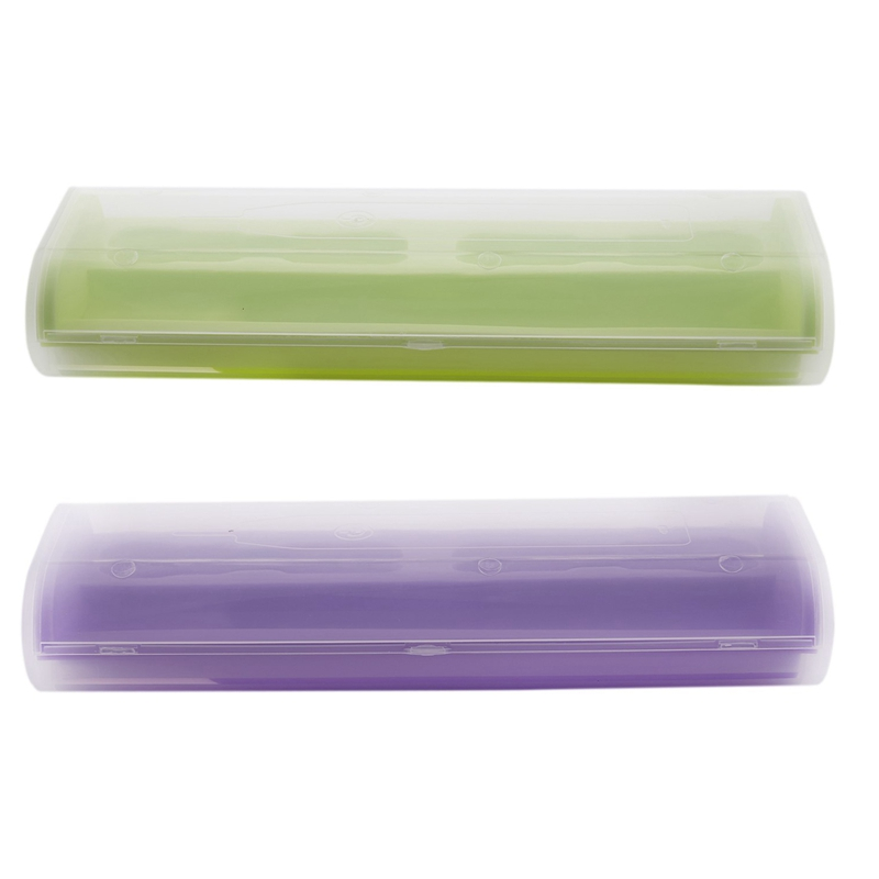 2 Pcs Portable Electric Toothbrush Holder Case Box Travel Camping for Oral-B 4 Colors, Purple & Green image