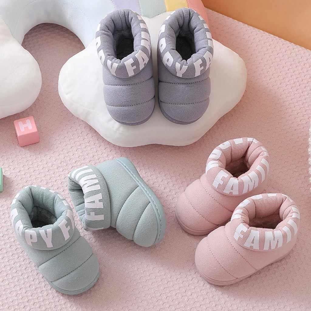 Baby meisje laarzen Kinderen Peuter Meisjes Laarzen Katoen Schoenen Baby Meisjes Jongens Winter Warm Solid Brief Korte Laarzen Schoenen Botas nina