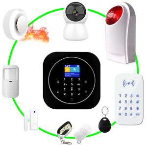 Image 4 - Alarmsysteem Wifi Gsm Alarm Intercom Afstandsbediening Autodial 433Mhz Detectoren Ios Android Tuya App Controle Touch Toetsenbord